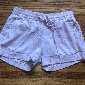 Old Navy light pink linen shorts